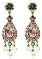 Ben-Amun Byzantine Pearl Teardrop Earrings with Pearls