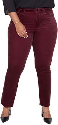 NYDJ Marilyn Straight Leg Cotton Blend Velvet Pants