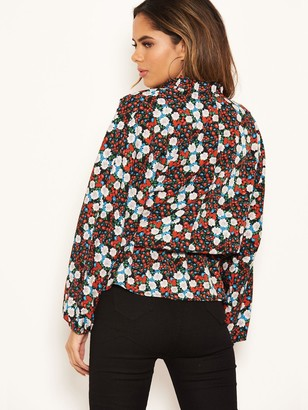 AX Paris Floral Wrap Top - Red