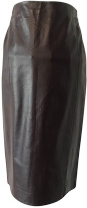 Brooks Brothers Brown Leather Skirt for Women