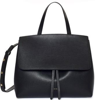 Mansur Gavriel Saffiano Mini Lady Bag - Black/Flamma