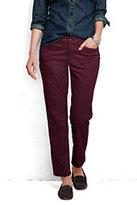 Classic Women's Pre-hemmed Not-Too-Low Rise Slim Leg Chino Pants-Brandywine
