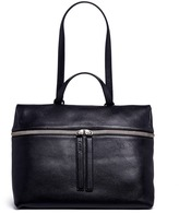 Kara Pebbled leather top handle bag