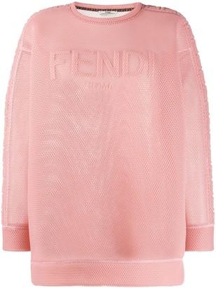 Fendi FF motif mesh sweatshirt