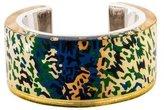 Balenciaga Printed Resin Cuff Bracelet