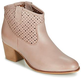 Betty London JIKOTEVE women's Low Ankle Boots in Beige
