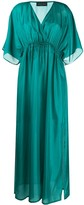 Roberto Collina Empire Waist Satin Dress