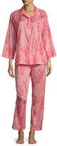 Natori Coral Printed Pajama Set