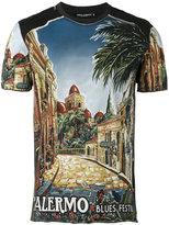 Dolce & Gabbana Palermo print T-shirt - men - Cotton - 46
