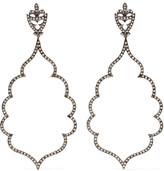 Loree Rodkin 18-karat Rhodium White Gold Diamond Earrings - one size