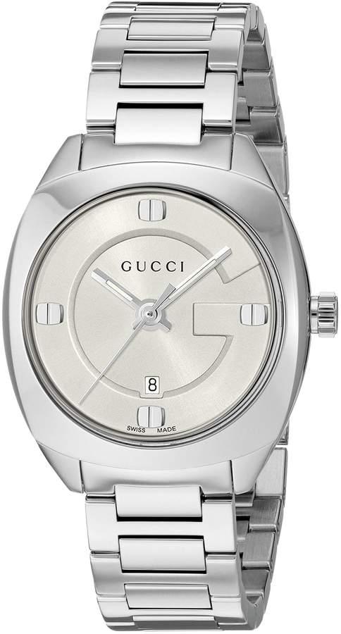 Gucci Women's YA142502 Analog Display Swiss Quartz Silver Watch