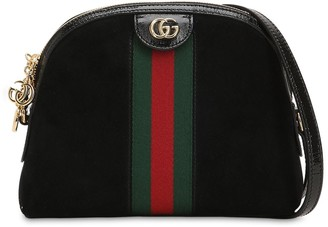 Gucci Small Ophidia Suede Shoulder Bag