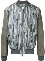Cerruti camouflage print bomber jacket