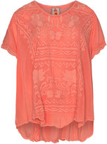 Johnny Was Plus Size Embroidered top