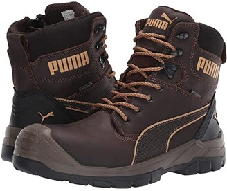 PUMA Safety 7 Conquest Zip WP (Brown) Men's Boots