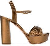 Casadei open toe platform sandals - women - Leather - 37