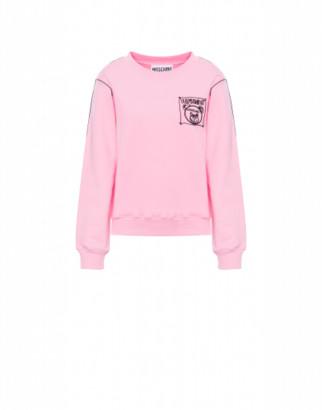 Moschino Teddy Label Cornely Sweatshirt Woman Pink Size 38 It - (4 Us)