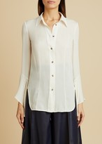 KHAITE The Lottie Top in Ivory