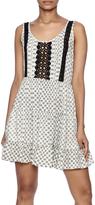 En Creme Crochet Print Dress
