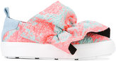 MSGM ruffle detail trainers - women - Cotton/Leather/Foam Rubber - 36