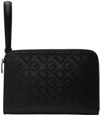 Dolce & Gabbana Black All Over Logo Document Holder