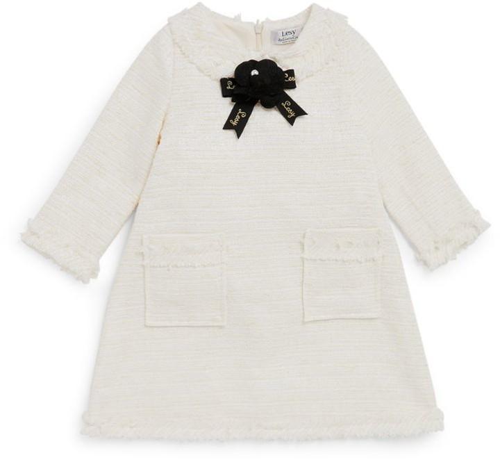 Lesy Tweed-Collar Dress (3-12 Years)