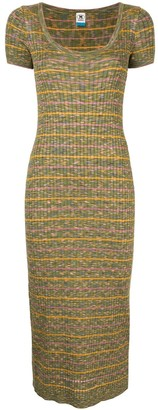 M Missoni Ribbed Knit Bodycon Dress