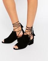 Asos ROMEO Tie Leg Ankle Boots