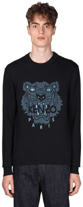 Kenzo Tiger Rubber Print Cotton Jersey Sweater