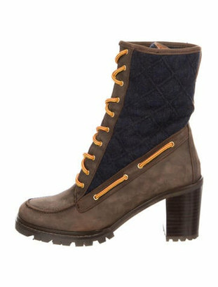 Hunter Suede Boots Brown