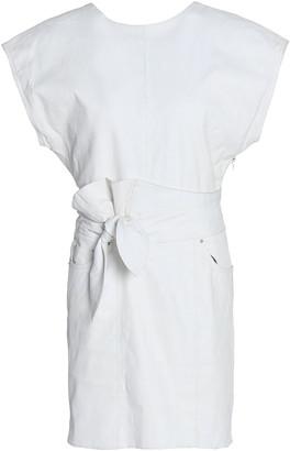 IRO Altina Knotted Leather Mini Dress