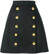 Dolce & Gabbana metallic double button skirt
