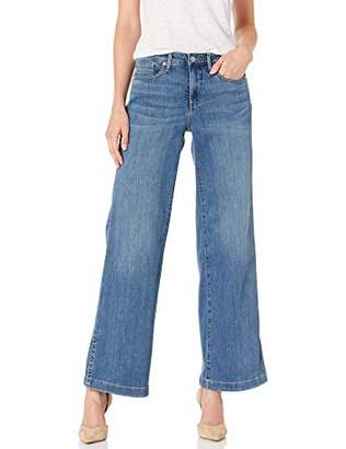 NYDJ Women's Petite Wide Leg Trouser Jeans with Side Slits
