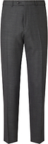 John Lewis Woven By Ermenegildo Zegna Super 160s Wool Birdseye Tailored Suit Trousers, Grey