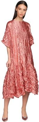 Rochas Broken Ruffled Midi Dress