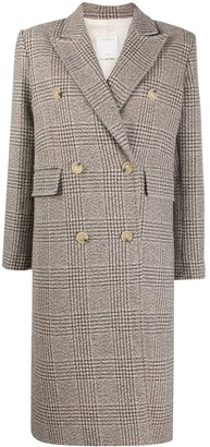 Sandro Long Double-Breasted Coat