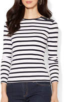 Lauren Ralph Lauren Buttoned Shoulder Striped Top
