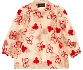 Simone Rocha Spooky flower-embroidered blouse