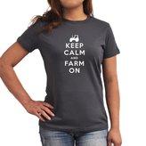 Eddany Keep Calm and Farm On Women T-Shirt