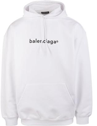 Balenciaga Man White New Copyright Hoodie