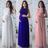 2018 Maternity Elegant Dress Sexy Sleeveless Long Boho Chic Tie Nursing Baby Bridesmaid Pregnant For Photo