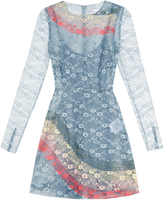 RED Valentino Rainbow floral-lace dress