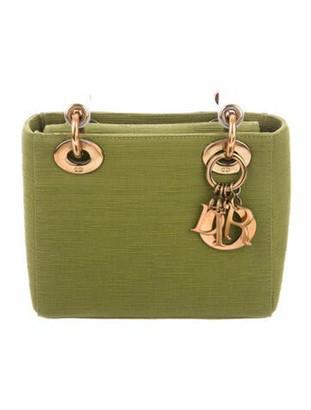Christian Dior Vintage Micro Lady Bag w/Strap Green