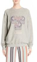 Chloé Women's Pelican Print Sweatshirt