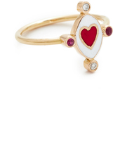 Holly Dyment Go Lightly Heart Ring with Rubies