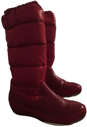 Moncler Red Rubber Boots