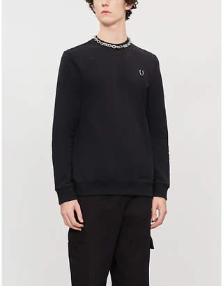 Fred Perry Logo-appliquéd cotton-jersey sweatshirt