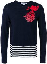Comme des Garcons striped detail jumper - men - Wool - S