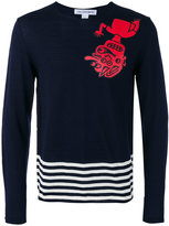 Comme des Garcons striped detail jumper - men - Wool - XL