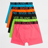 River Island Boys pink bright colour boxers multipack